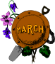 Illustrated months (March, colour)
