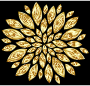 Gold Flower Petals Variation 2 With Background