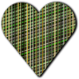 Patterned heart 5
