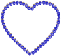 Blue Strawberry Heart