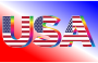 USA Flag Typography Rainbow