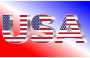 USA Flag Typography Chrome
