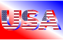 USA Flag Typography Red White And Blue