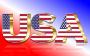 USA Flag Typography Gold With Reflection