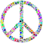 Colorful Circles Peace Sign