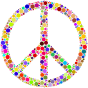 Colorful Circles Peace Sign 2