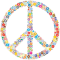 Colorful Circles Peace Sign 3