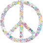 Colorful Circles Peace Sign 4
