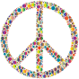 Colorful Circles Peace Sign 5