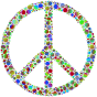 Colorful Circles Peace Sign 6
