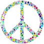Colorful Circles Peace Sign 7