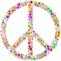 Colorful Circles Peace Sign 8