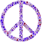 Colorful Circles Peace Sign 10