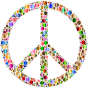 Colorful Circles Peace Sign 12