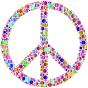 Colorful Circles Peace Sign 13