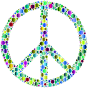 Colorful Circles Peace Sign 14