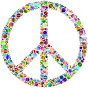 Colorful Circles Peace Sign 15