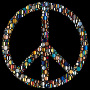 Colorful Circles Peace Sign 16 With Background