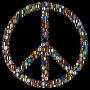 Colorful Circles Peace Sign 16 Variation 4