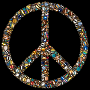 Colorful Circles Peace Sign 16 Variation 5
