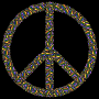 Colorful Circles Peace Sign 17