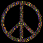 Colorful Circles Peace Sign 18