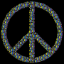 Colorful Circles Peace Sign 23