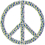 Colorful Circles Peace Sign 23 Without Background