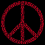 Colorful Circles Peace Sign 25