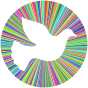 Prismatic Peace Dove Halo