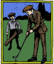 Man Golfing - Colour