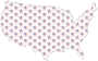 USA Map Star Pattern