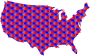 USA Map Star Pattern 2