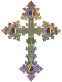 Prismatic Ornate Cross No Background
