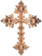 Polished Copper Ornate Cross No Background