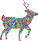 Prismatic Low Poly Deer