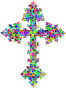 Prismatic Low Poly Ornate Cross