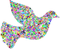 Prismatic Tiled Peace Dove