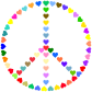 Colorful Peace Sign Love