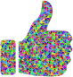 Prismatic Low Poly Thumbs Up