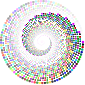 Colorful Swirling Circles Vortex
