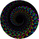 Colorful Swirling Circles Vortex With Background