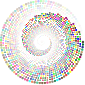 Colorful Swirling Circles Vortex 2