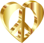 3D Peace Heart Mark II Gold