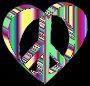 3D Peace Heart Mark II Psychedelic