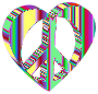 3D Peace Heart Mark II Psychedelic No Background