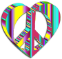 3D Peace Heart Mark II Psychedelic 2