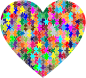 Colorful Puzzle Heart