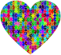 Colorful Puzzle Heart 2
