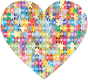 Colorful Puzzle Heart 3